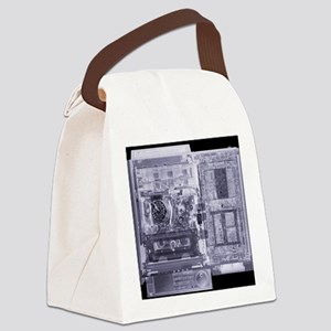 Video recorder, simulated X-ray Canvas Lunch Bag