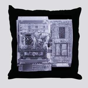 Video recorder, simulated X-ray Throw Pillow