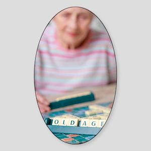 Geriatric care Sticker (Oval)