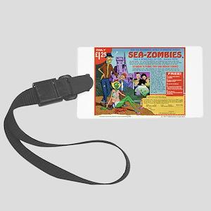 Sea -Zombies Large Luggage Tag