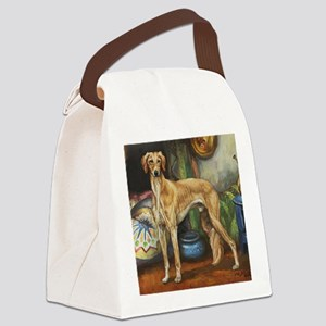 Saluki in the Tent Canvas Lunch Bag