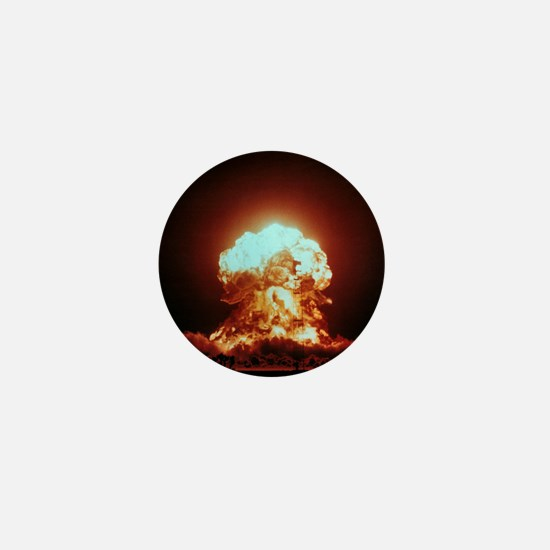 View of the Badger nuclear explosion Mini Button