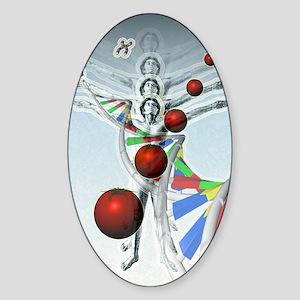 Genetic modification Sticker (Oval)