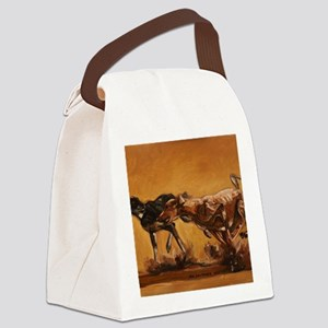 Salukis Running Canvas Lunch Bag