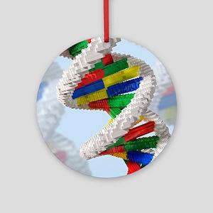 Genetic engineering, conceptual art Round Ornament