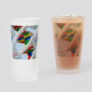 Genetic engineering, conceptual art Drinking Glass