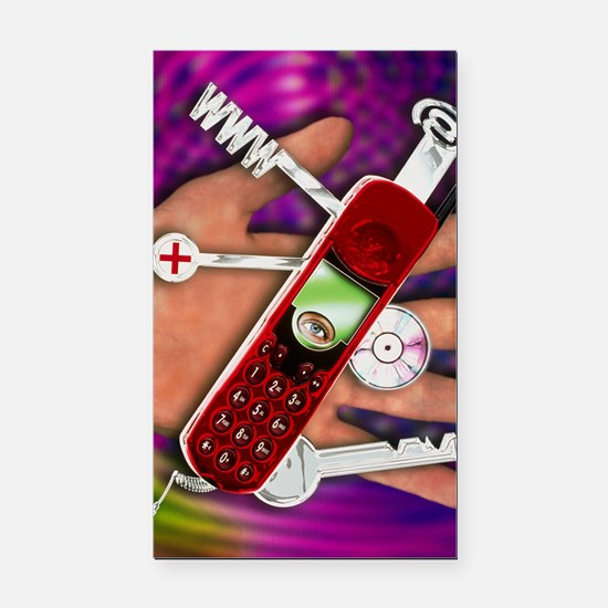 WAP mobile telephone Rectangle Car Magnet