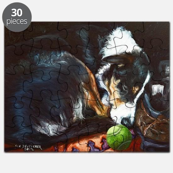 Border Collie Sleeping Puzzle