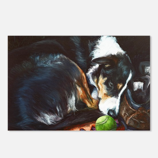 Border Collie Sleeping Postcards (Package of 8)