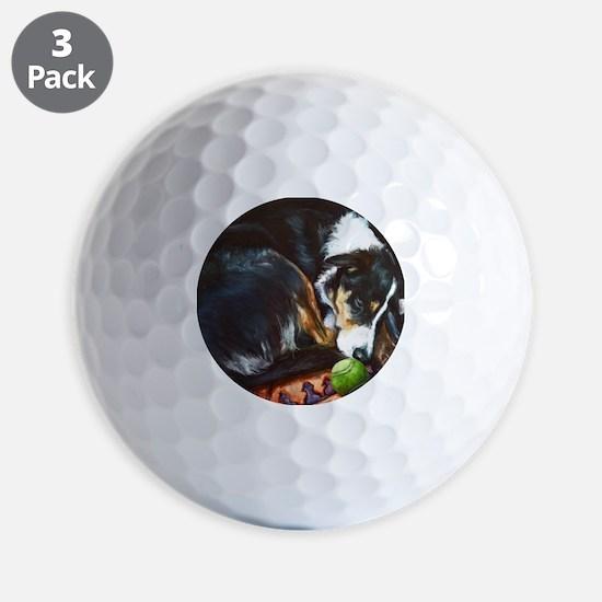 Border Collie Sleeping Golf Ball
