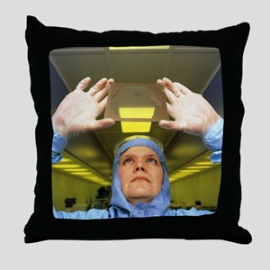Visual inspection of photomask Throw Pillow