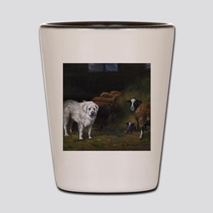 Great Pyrenees with Sheep Shot Glass
