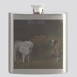 Great Pyrenees with Sheep Flask