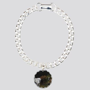 Great Pyrenees with Shee Charm Bracelet, One Charm