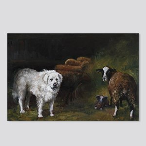 Great Pyrenees with Sheep Postcards (Package of 8)