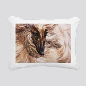Afghan Hound Rectangular Canvas Pillow