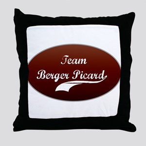 Team Berger Throw Pillow