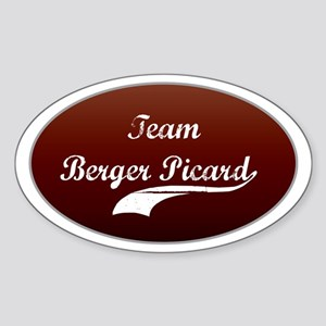 Team Berger Oval Sticker