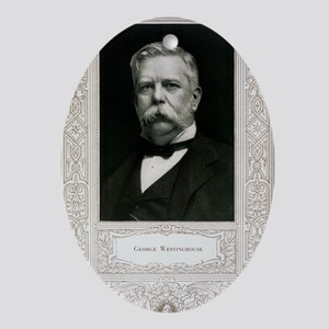 George Westinghouse, American engine Oval Ornament