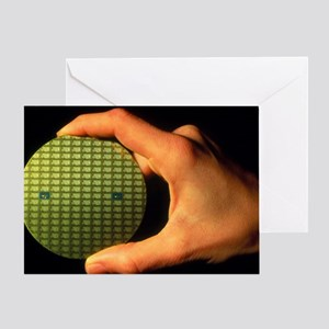 Wafter of silicon chips Greeting Card