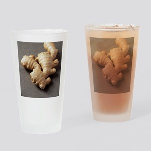 Ginger root Drinking Glass