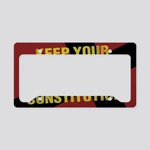 Keep Your Crucifixion License Plate Holder