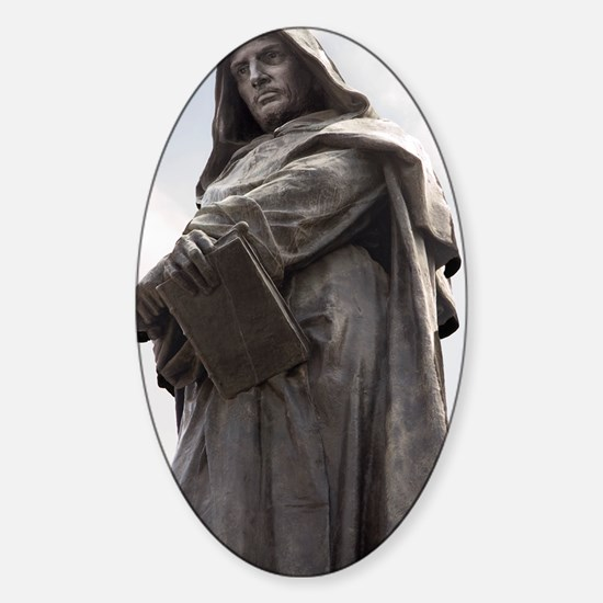 Giordano Bruno, Italian philosopher Sticker (Oval)