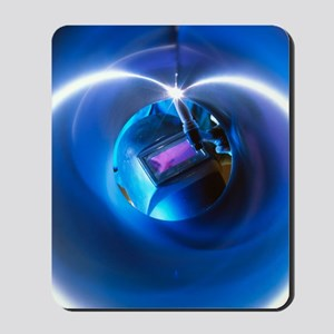 Welder welding stainless steel tube Mousepad