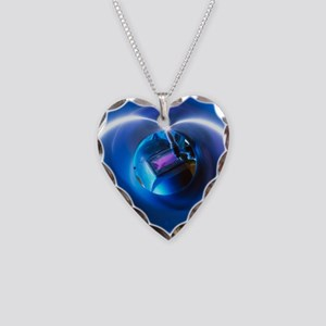 Welder welding stainless stee Necklace Heart Charm