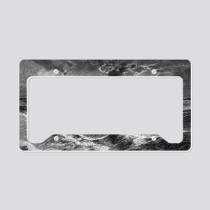 Waterspout, historical artwor License Plate Holder