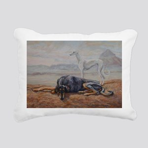 Saluki in the Desert Rectangular Canvas Pillow