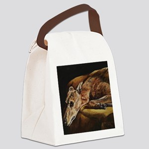Greyhound Resting Canvas Lunch Bag