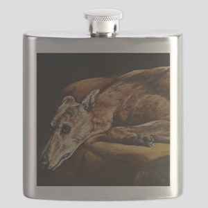 Greyhound Resting Flask