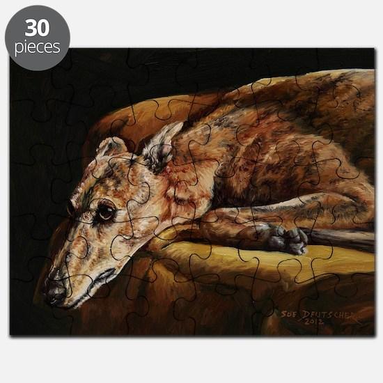Greyhound Resting Puzzle