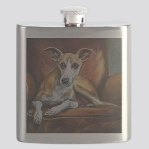 Whippet on Chair Flask