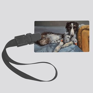 Borzoi Large Luggage Tag