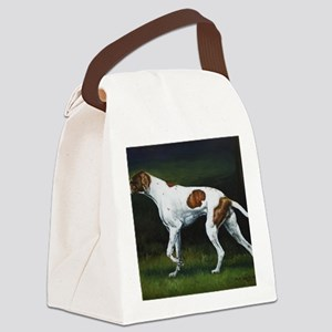 English Pointerin the Woods Canvas Lunch Bag