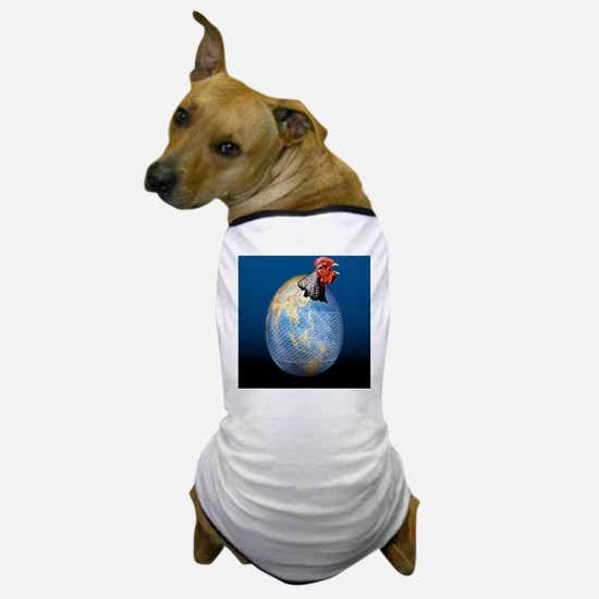 Global avian flu epidemic, conceptual  Dog T-Shirt