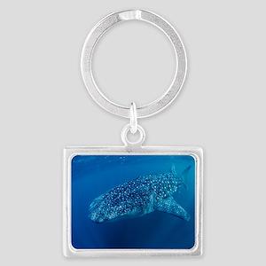 Whale shark Landscape Keychain