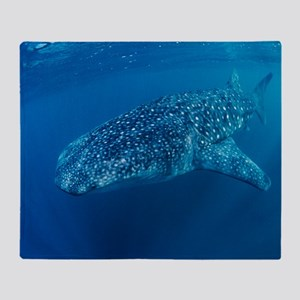 Whale shark Throw Blanket