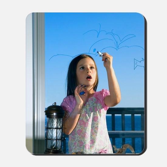 Girl drawing Mousepad