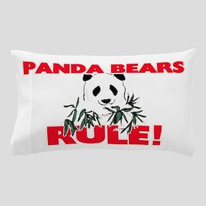 Panda Bears Rule! Pillow Case
