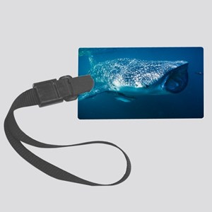 Whale shark and pilot fish Large Luggage Tag