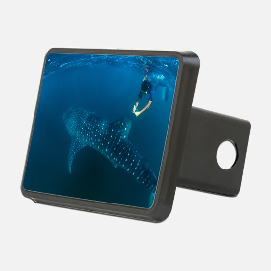 Whale shark and snorkeler Hitch Cover