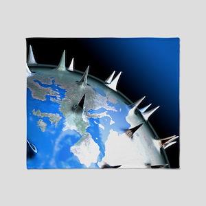 Global pandemic, conceptual artwork Throw Blanket
