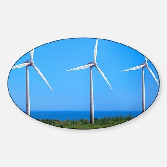 Wind farm Sticker (Oval)