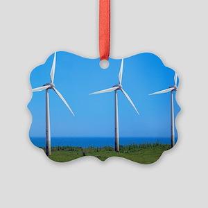 Wind farm Picture Ornament