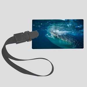 Whale shark filter feeding Large Luggage Tag