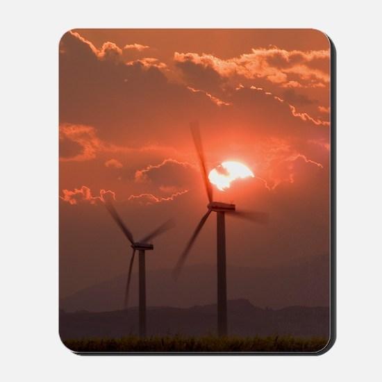 Wind turbines Mousepad