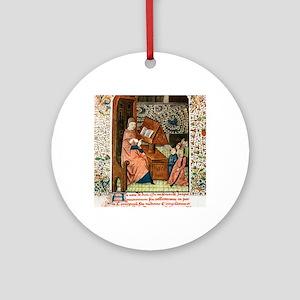 Guy de Chauliac, French surgeon Round Ornament